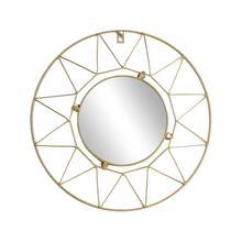 Европейское металлическое настенное зеркало круглое декоративное зеркало для гостиной офиса