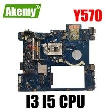Новинка, PIQY1 LA-6882P REV: 2,0 Y570 материнская плата для ноутбука LENOVO Y570 (поддерживает только процессор I5 I3)