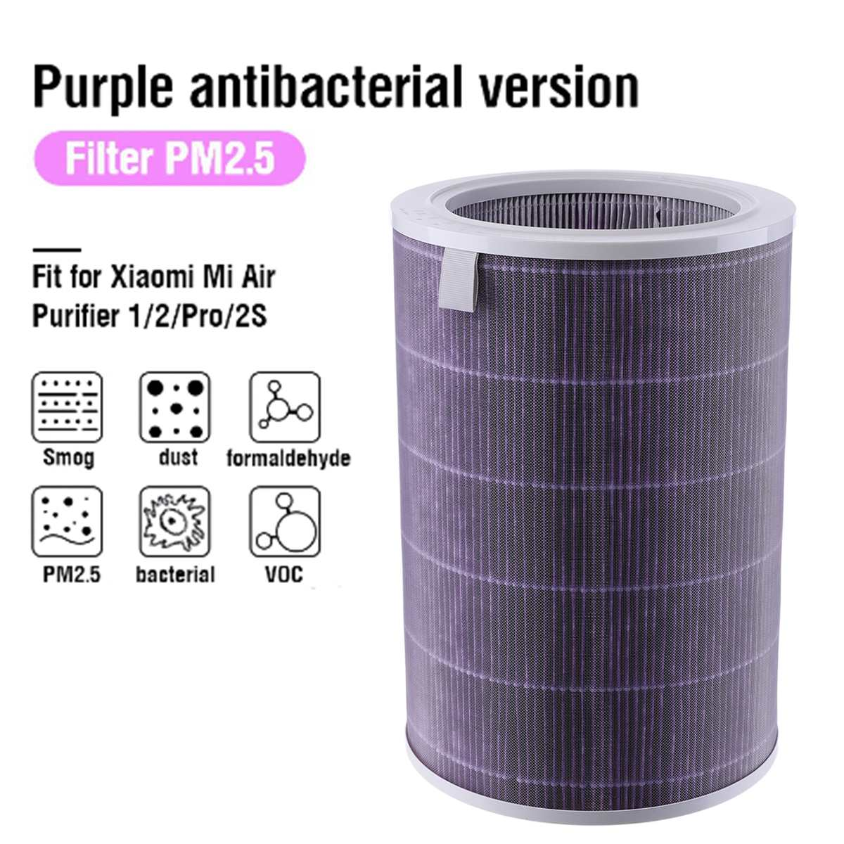PM2.5 Carbon Hepa  Filter Replacement For 1/2/2S Pro  Purifier Filter Home  Remove Dust Formaldehyde