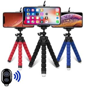 Image 1 - Tripods tripod for phone Mobile camera holder Clip smartphone monopod tripe stand octopus mini tripod stativ for phone