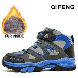 Winter Boy sportowe obuwie turystyczne dzieci trekking na świeżym powietrzu ciepłe botki studenckie dzieci wspinaczka Sneaker odporne na zużycie obuwie w Buty turystyczne od Sport i rozrywka na