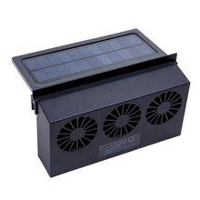 Car Fan Solar Window Sun Powered Car Auto Air Vent Cool Cooling System Radiator Fan Cooling Fan Energy Saving