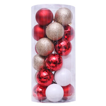 24pcs/Lot 4cm Christmas Tree Decoration Ball Ornaments Hang Shiny Bauble For Home House Bar Party