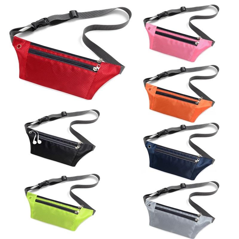 Galleria fotografica Sport Bum Bag Belt Purse Waist Pack Waterproof Travel Hidden Phone Pouch Running Jogging Fanny Pack Portable Gym Chest Bags