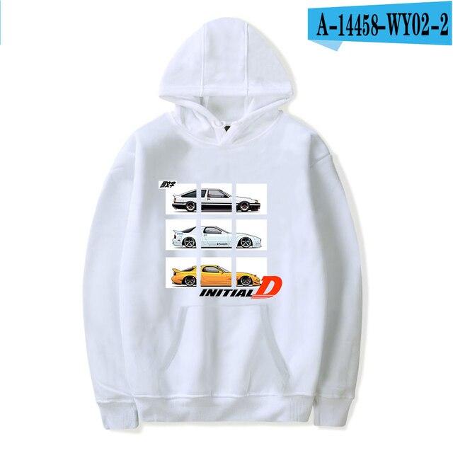 Initial D Hoodies Toyota AE86 Print Hoodies Men Women Fashion Hoodie Streetwear Hip Hop Sweatshirt JDM Automobile Culture Hoodie