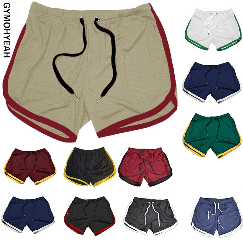 2020 Summer Shorts Men Quick Drying Fitness Short Breathable Casual Beach Shorts Mens Boardshorts Elastic Waist Solid 22 Color