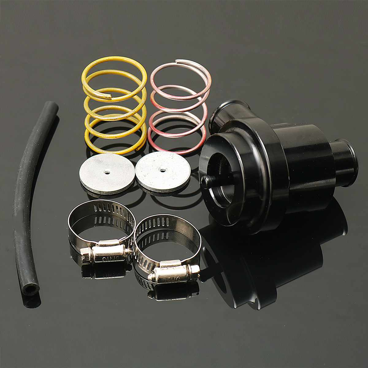 For Volkswagen Golf Jetta 2000-2005 For Audi 1.8T 2.7T 1998-2006 Black Aluminum Recirculate Diverter Valve Turbo BOV Boost