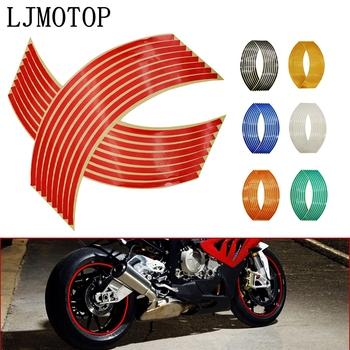 Naklejki koła odblaskowe obręczy pasek taśmy rower motocykl naklejki dla Honda dla Kawasaki Z750 Z800 dla YAMAHA MT07 MT09 MT10 R1 tanie i dobre opinie LJMOTOP CN (pochodzenie) Naklejki i naklejki 3D Reflective Stickers 0 03kg Glue Sticker Tires Rim Car Motorcycle Bicycle wheels of 14 17 or 18 inches