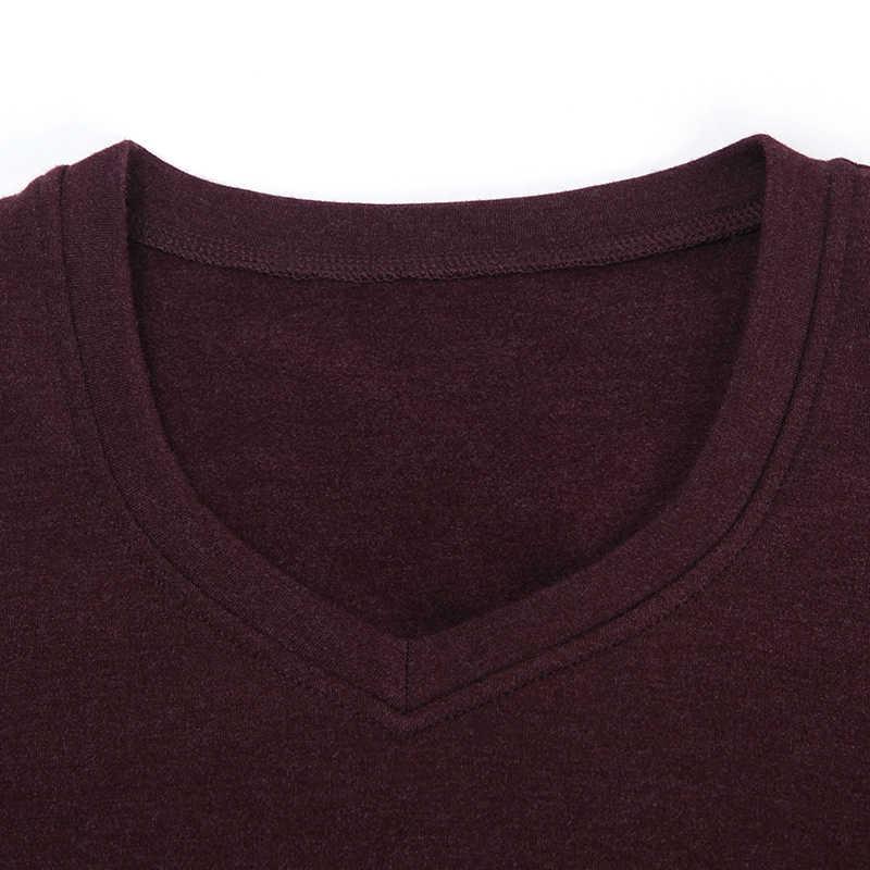 Do mian roupa interior térmica outono masculino inferior algodão quente com decote em v macio casual longo john tops + calças cinza azul vinho