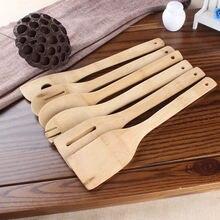 6 комплектов 30 см кухонная утварь бамбуковая Ложка кухонные