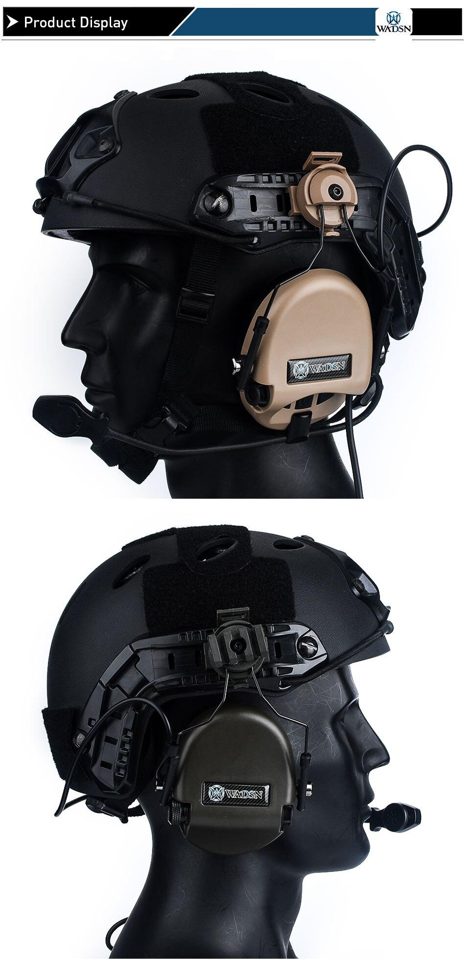 paintball fone de ouvido com capacete adaptador wz188
