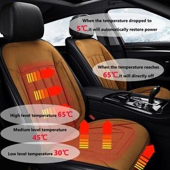 1/2 pcs Fleece Car Heated Seat Covers Fast Heated & Adjustable Car Electric Heating Cushion Winter Seat Mat Seat Heater warm kne
