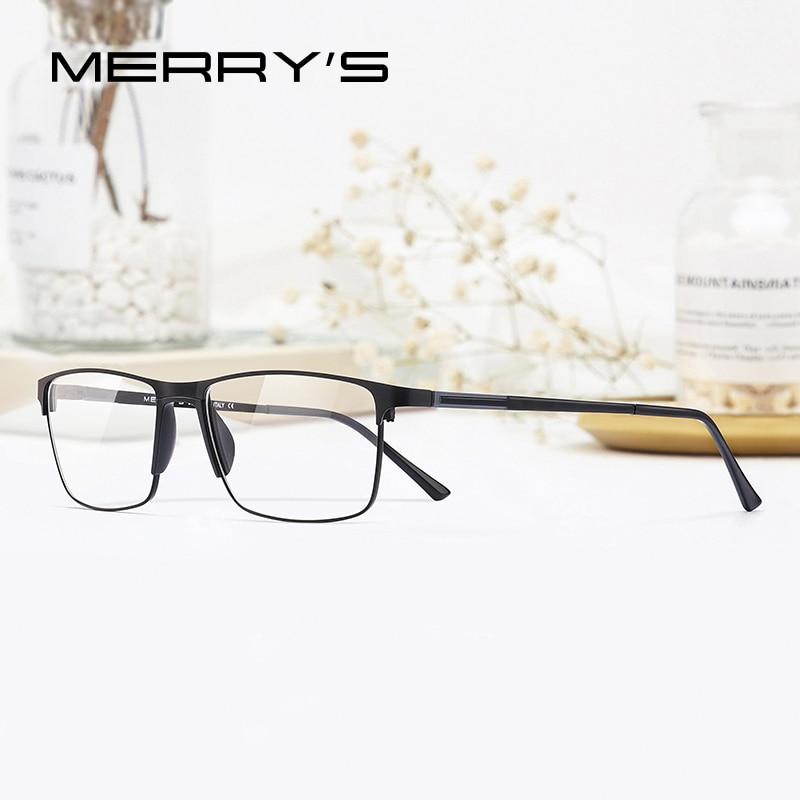MERRYS DESIGN Men Fashion Alloy Optics Glasses Frames Student Square Ultralight Myopia Prescription Glasses S2037