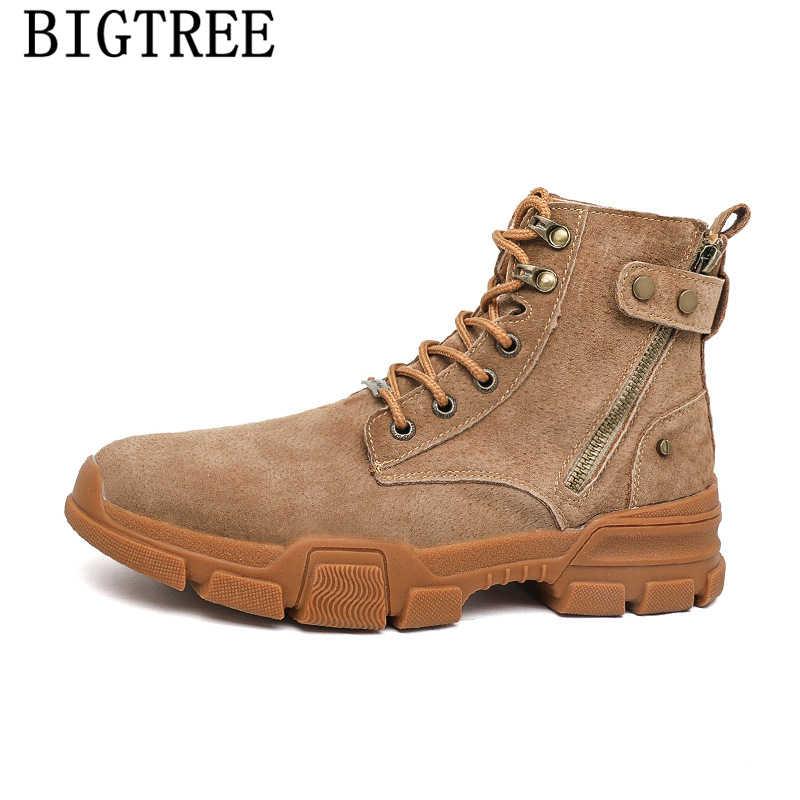 Desert laarzen laarsjes mannen winter schoenen mannen snowboots schoenen + man bota motociclista botas nieve hombre zapatos de hombre 2019