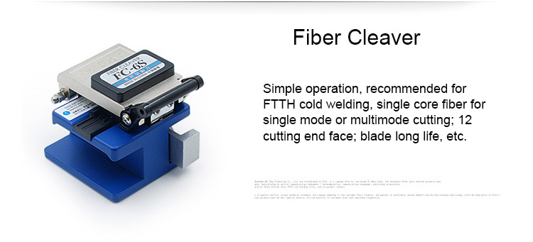 Image 5 - 6 In 1 Fiber Optic FTTH Tool Kit Optical Fiber Fiber Cleaver FC 6S Millers Plier Stripper Optical Power Meter 1mW VFL 1mW 5KMFiber Optic Equipments   - AliExpress