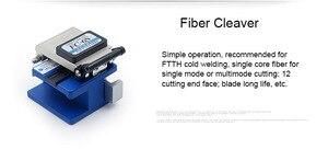 Image 5 - 6 In 1 Fiber Optic FTTH Tool Kit Optische Faser Cleaver FC 6S Miller der Zange Stripper Optische Power Meter 1mW VFL 1mW 5KM