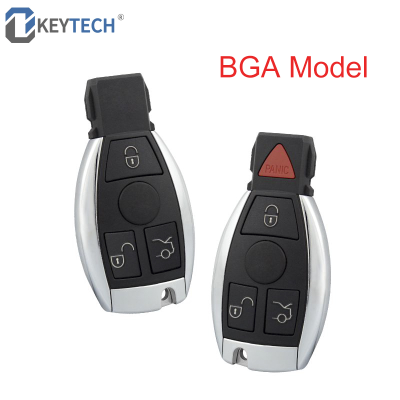 OkeyTech Smart Remote Control Car Key Shell Case With 3/4 Buttons for Mercedes-Benz BGA 2007-2013 With Uncut Blank Blade