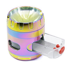 Радужная металлическая мельница измельчитель пыльцы 4 части
