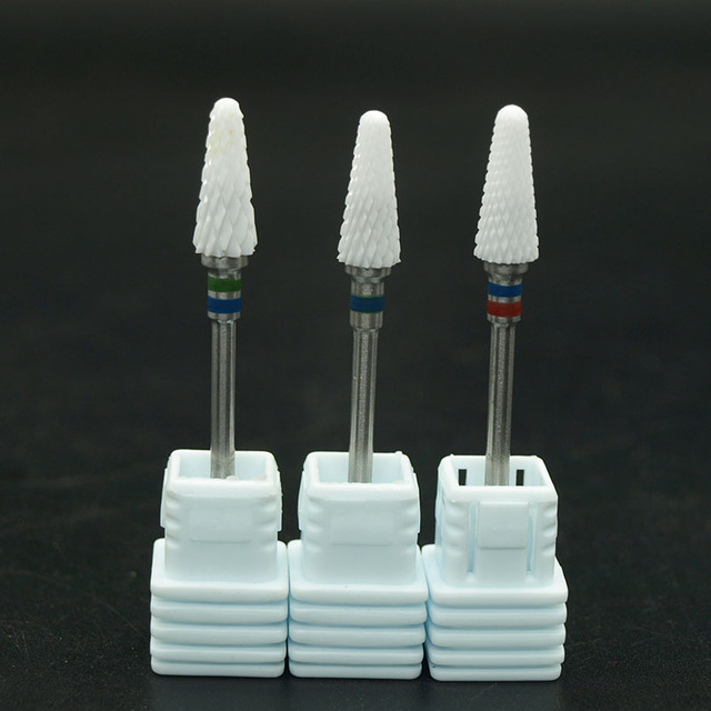 EasyNail 1pcs  Mill Ceramic Nail Drill Bits For Electric Manicure Machines Pedicure Nail Art Salon Polish Tools M0610 2