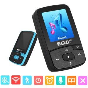 Image 1 - Original RUIZU X50 Sport Bluetooth MP4 Player 8GB Clip Mini Music MP4with Screen Support FM,Recording,E Book,Clock,Pedometer