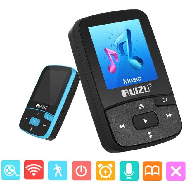 מקורי RUIZU X50 ספורט Bluetooth MP4 נגן 8GB קליפ מיני מוסיקה MP4with מסך תמיכת FM, הקלטה, ספר אלקטרוני, שעון, מד צעדים