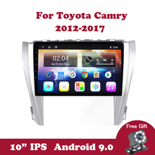 Android 9.0 Car Radio For Toyota Camry 8 50 55 2015-2017 Multimedia Player 10.1 IPS Screen Navigation GPS 2 din No 2 din Wifi carrvas 2 din car multimedia player android 8 1 built in rds 7 inch hd touch screen gps navigation wifi bluetooth am fm iso