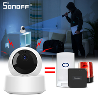 SONOFF GK-200MP2-B Mini Wireless Wifi telecamera IP Ewelink APP 360 IR 1080P HD Baby Monitor sorveglianza sicurezza allarme casa intelligente