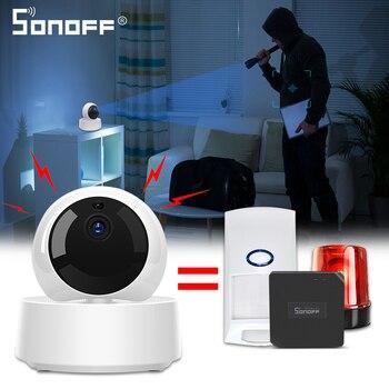 SONOFF GK-200MP2-B Mini Wireless Wifi cámara IP aplicación ewelink 360 IR 1080P HD Monitor de bebé de vigilancia de seguridad de Alarma de casa inteligente