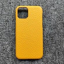 ขายส่งขายปลีก Full Grain Cowhide สำหรับ iPhone 7 8 Plus X XR XS 11 12 Pro Max Mini SE กลับกรณี