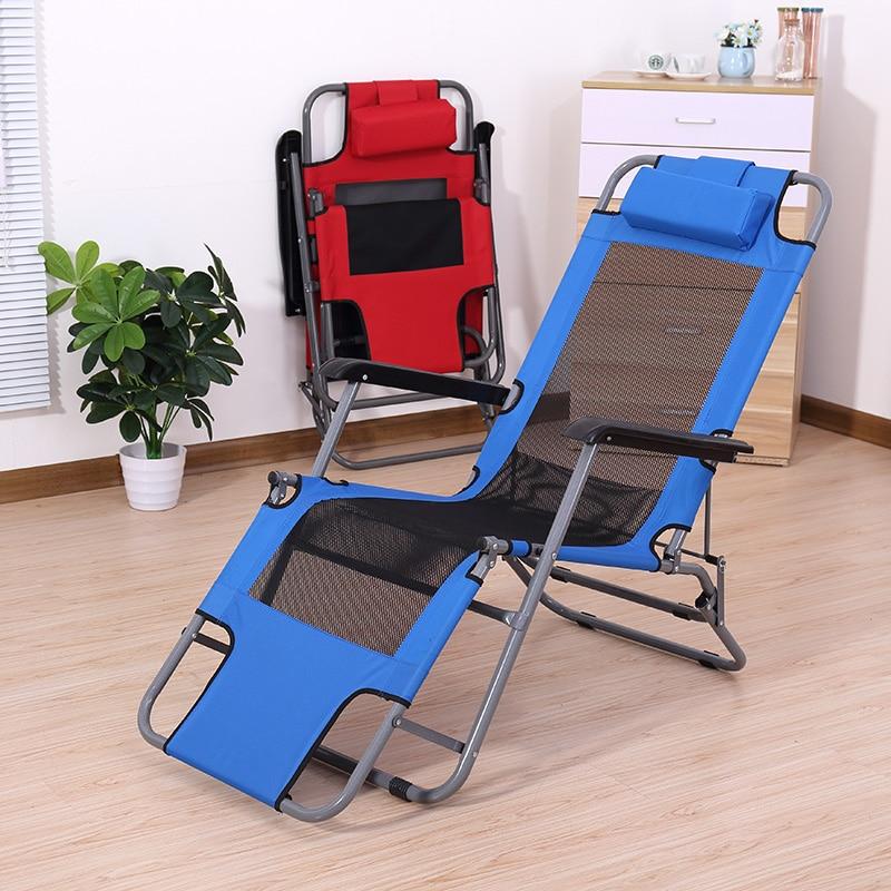 Leisure Recliner Folding Chair Lunch Break Chair Summer Office Lounge Chair Lunch Break Chair Beach Chair Siesta Chair