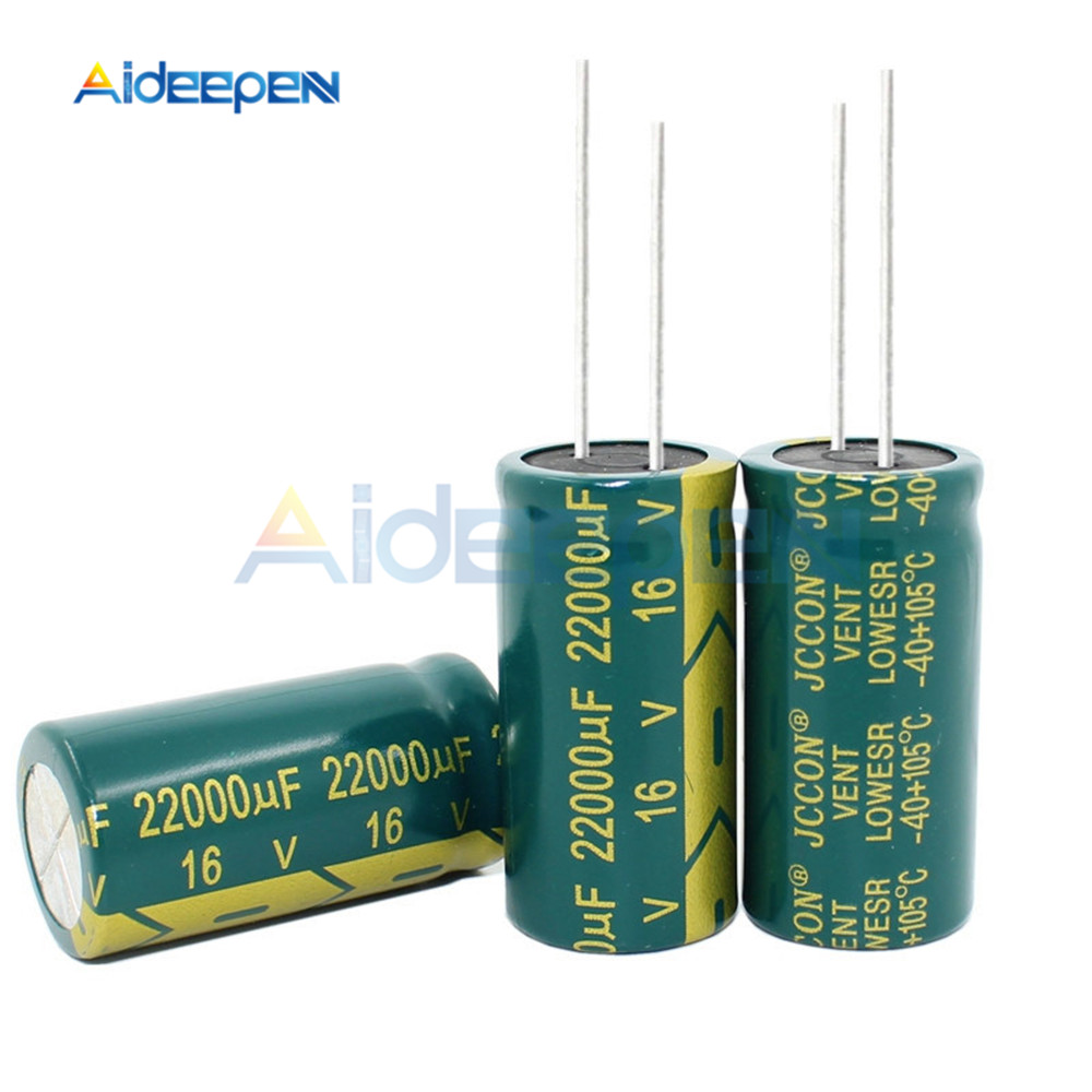 5PCS 16V 22000UF 18*35MM Aluminum Electrolytic Capacitor 18x35MM