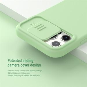 Image 2 - Voor Iphone 12 Pro 12 Pro Max Case Nillkin Camshield Zijdeachtige Magnetische Case Zachte Siliconen Slide Camera Bescherming Cover Voor IPhone12