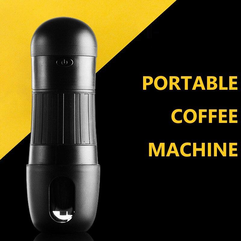 Portable Capsule Coffee Machine Electric Coffee Powder Brewing Mini Car Automatic Hand Brewing Coffee Machine Coffeeware Pots