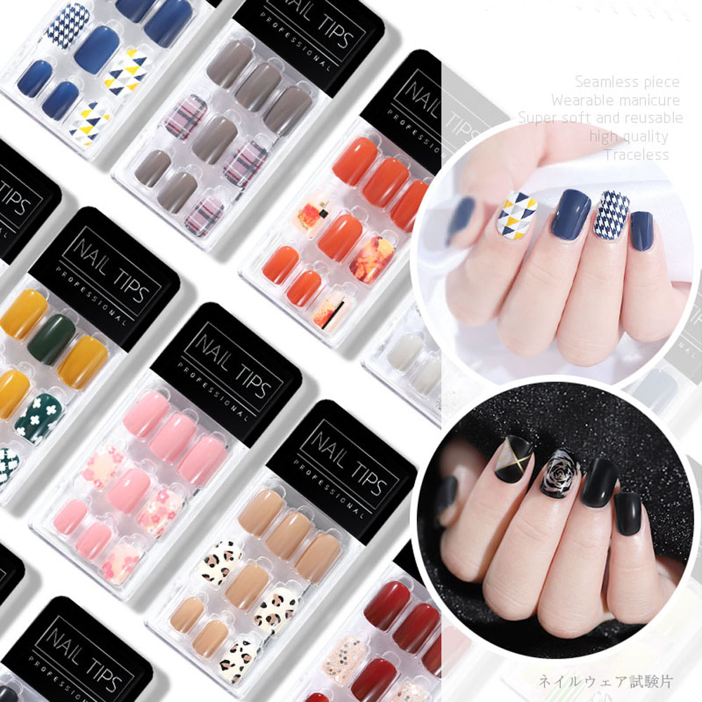 New product  Popular Designs 30pcs ultra-thin and traceless nail patches for removable fake nails