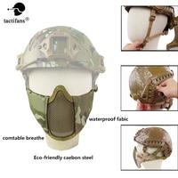 Маска тактические; на пол-лица шлем уход за кожей лица маска с металлической сеткой версия Металлические Защитные дуги рельсы для пейнтбола...