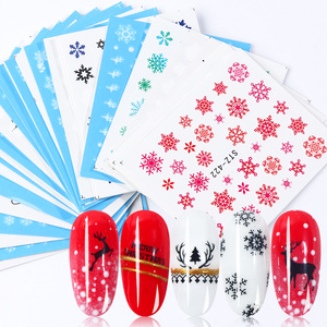 Image 1 - 30pcs White Snowflakes Nail Stickers Art Sliders Set For Christmas Decorations Nails Designs Foils Water Decals Manicure TR862