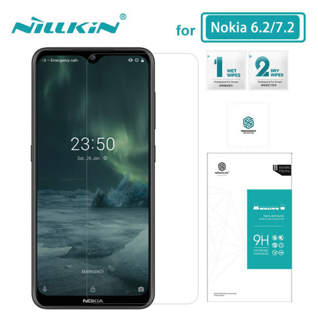 For Nokia 7.2 Glass Nillkin Amazing H 0.33MM Screen Protector Tempered Glass for Nokia 6.2 / 7.2 Film
