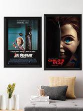 Affiche imprimée de film de Jeu pour enfants, cadeau artistique en soie, autocollant mural, décor de salle
