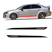 2 предмета в комплекте, для Защитные чехлы для сидений, сшитые специально для Mitsubishi Lancer GT винил боковые полосы юбка графика авто стикер автом...