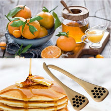 Wood Jam Honey Dipper Spoon Stick Drink Tea Mixing Stirrer Hollow Creative Long Handle Coffee Stirring Spoons Kitchen Tool #W3(China)