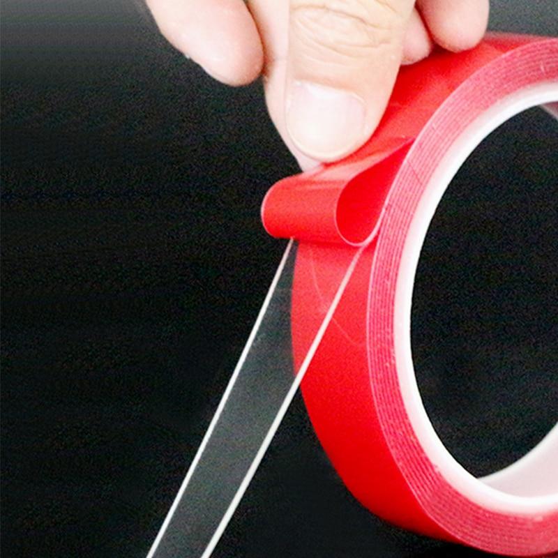 Pegatinas de doble cara para coche, cinta adhesiva transparente de 10mm para el hogar y la motocicleta