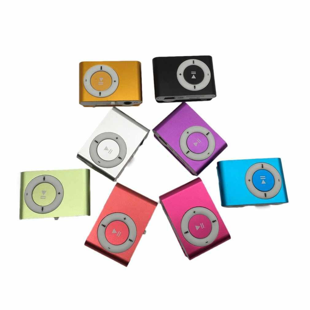 แบบพกพาโลหะ Screenless การ์ด Mp3 คลิปเหล็ก Mp3 ผู้เล่นนักเรียนกีฬาผู้เล่น Creative Mp3 ของขวัญ