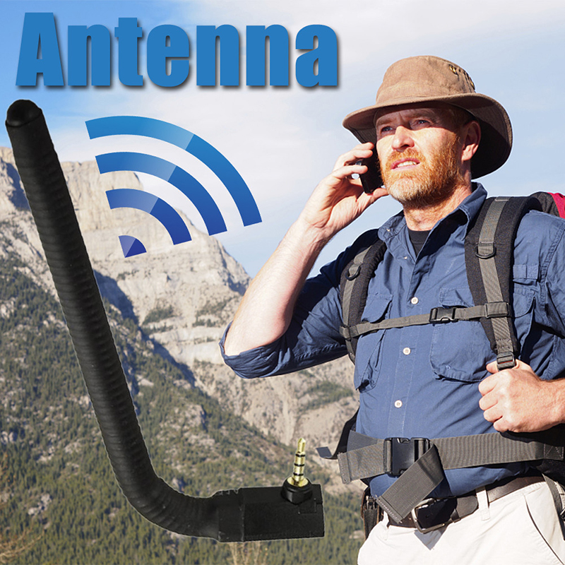 External Wireless Antenna TV Sticks GPS TV Mobile Cell Phone Signal Strength BoosterAntenna 3.5mm Jack Connector Signal Transfer