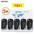5 шт./лот KEYDIY 3 кнопки многофункциональный пульт дистанционного управления NB11 NB серии универсальный для KD900 URG200 KD-X2 все функции в одном