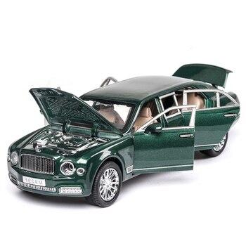 1/24 duży rozmiar Diecast aluminiowy model samochodu zabawki muhang rozszerzony zielony czarny wysokiej imitacja metalu samochód 6 drzwi otwarte do kolekcji