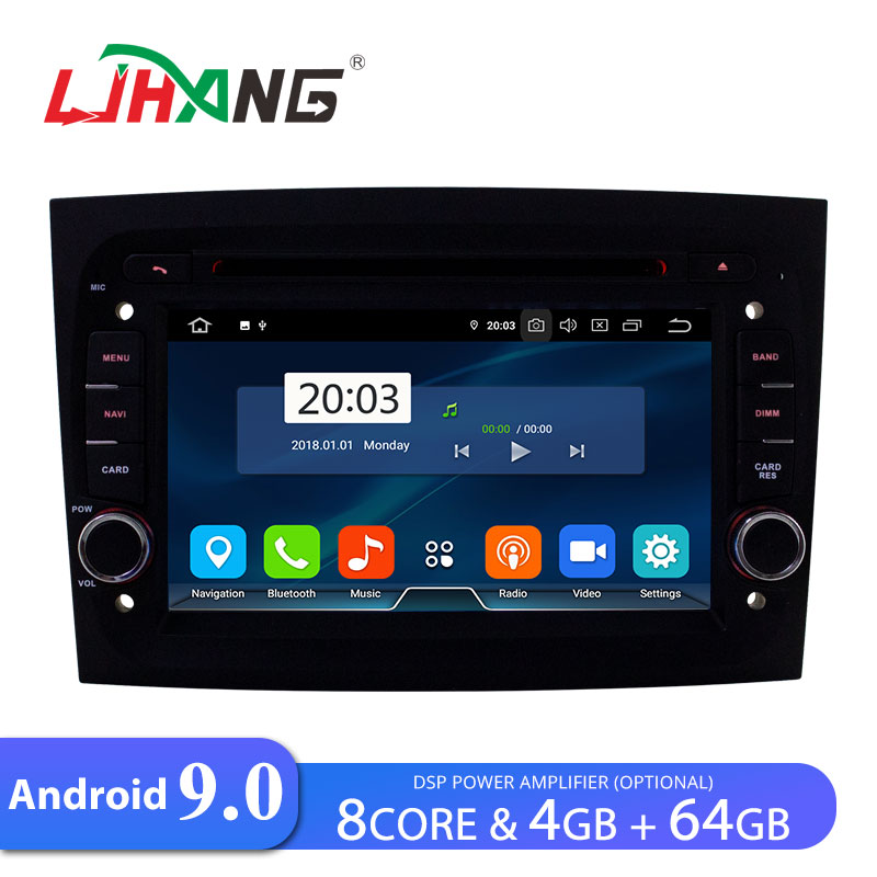LJHANG Car DVD multimedia Player Android 9.0 For Fiat Doblo 2015 2016 WIFI GPS Navi 1 Din Car Radio Stereo Octa cores 4G+64G IPS image