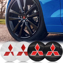 4Pcs 56mm Auto Emblem Logo Wheel Center Hub Cover Sticker For Mitsubishi ASX Lancer x 10 Outlander 3 Montero Accessories 2020
