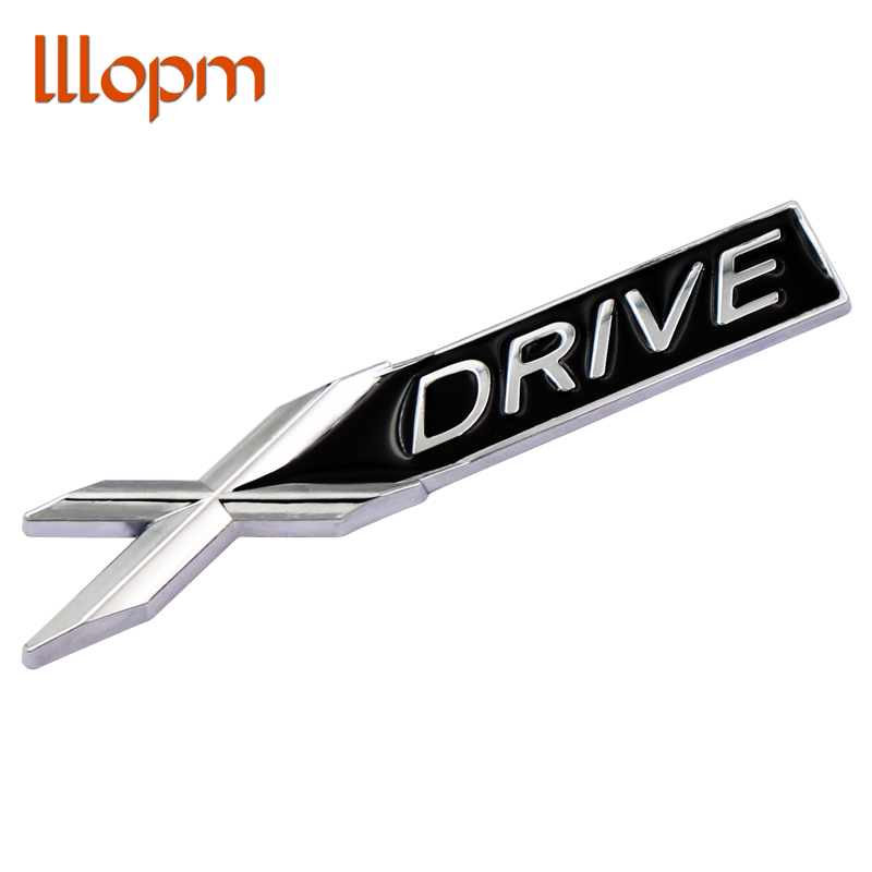 3D Metal chrome Xdrive X <font><b>drive</b></font> <font><b>emblem</b></font> badge sticker Decal car Decoration For <font><b>BMW</b></font> 3 5 7 Series X1 X3 X5 E46 X6 Sdrive Z4 35i 18i image