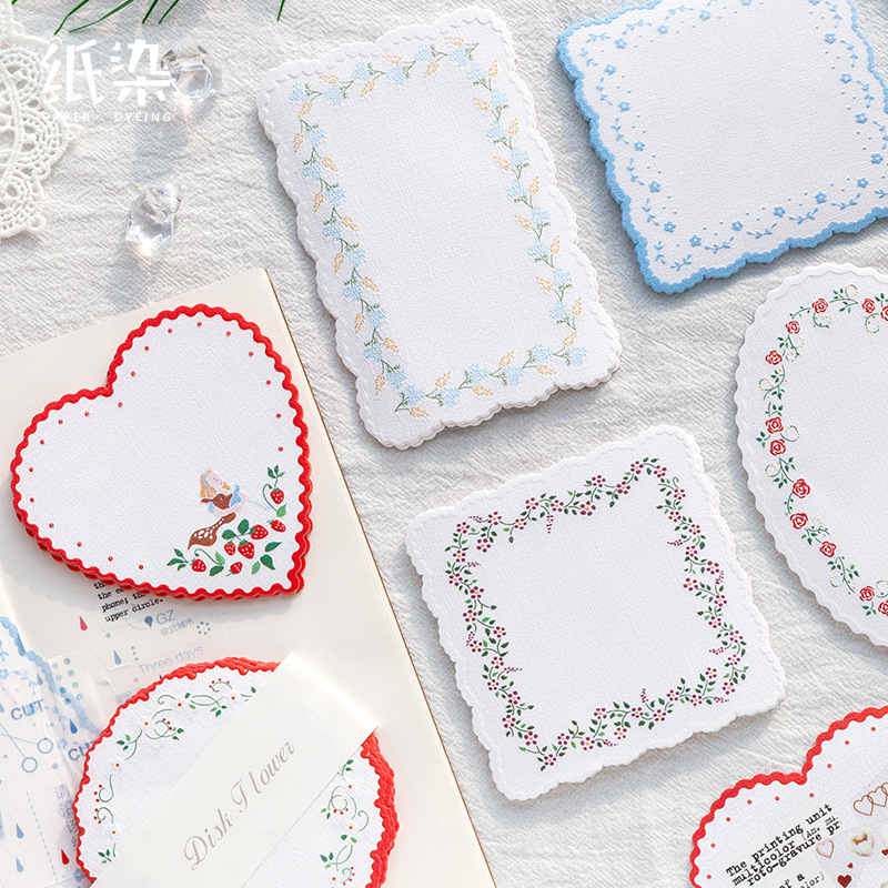 20 Pcs/set Flower Pattern Decorative Paper Cute Memo Pad Special High Quality Paper Material Note Pad Diary DIY Decorative Paper