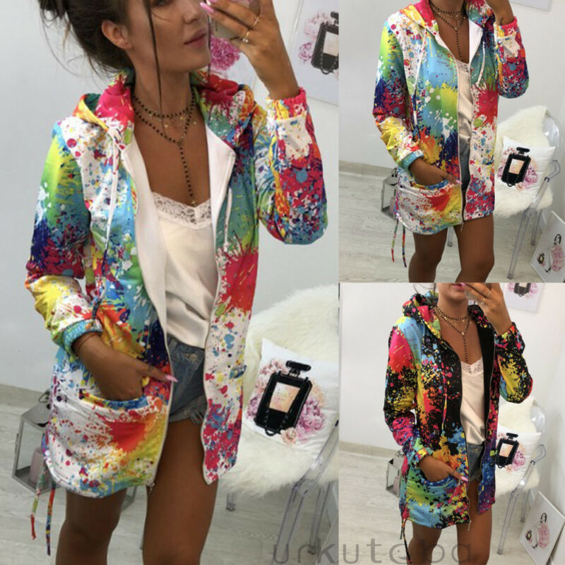 2020 Brand New Style Fashion Women Leather Jacket Coats Zip Up Multicolor Hoodie Casual Top Coat Outwear